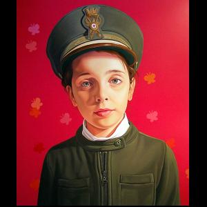 34_Bambina con cappello 140x120